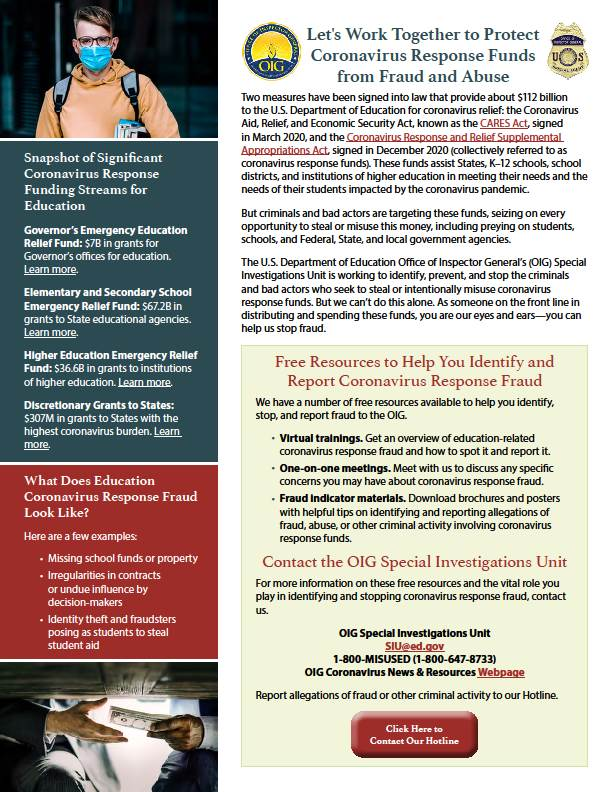 Federal OIG Special Investigations Unit - COVID-19 Funding